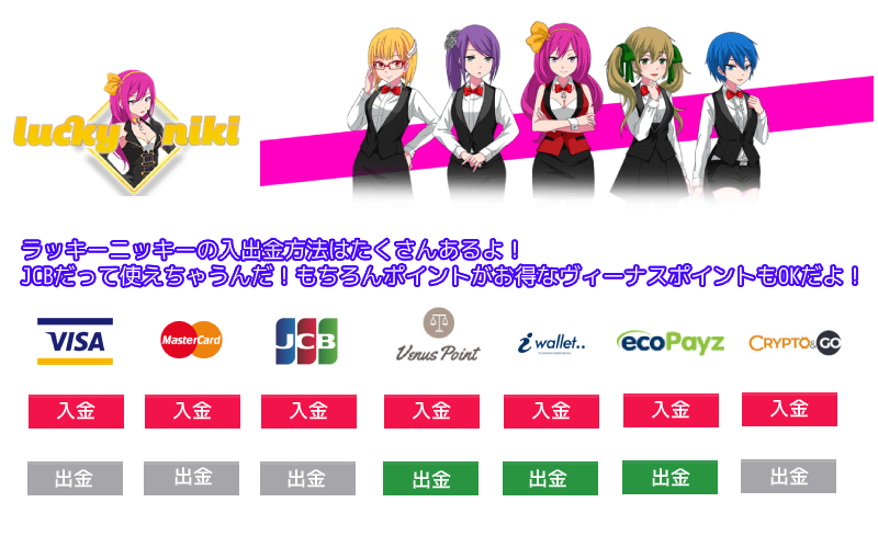 luckyniki payment method